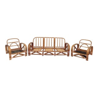 Ritts Co. Rattan Sofa & Chairs - Set of 3