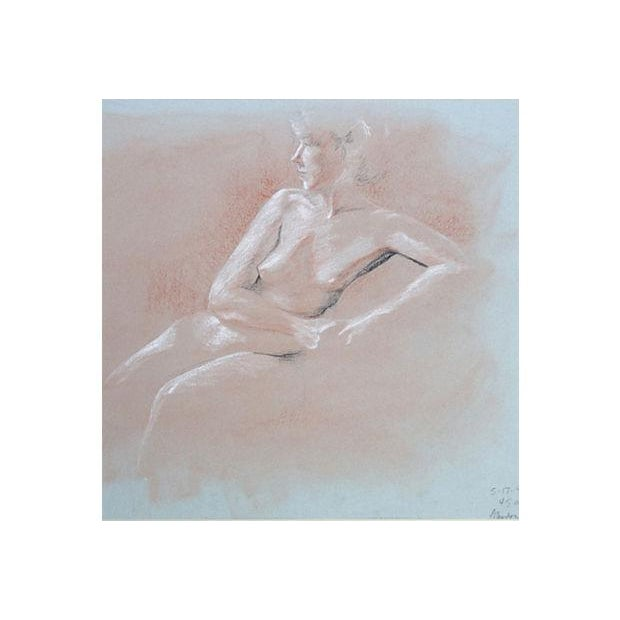 Nude Pastel Drawing by Pat Cantor - Image 2 of 6