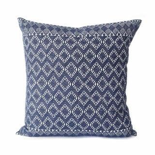 San Cristobal Brocade Pillow - Navy