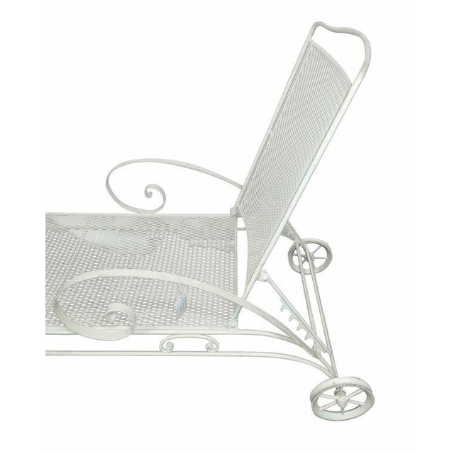 Russell Woodard Iron Mesh Steel Outdoor Chaise Lounge - Image 3 of 6
