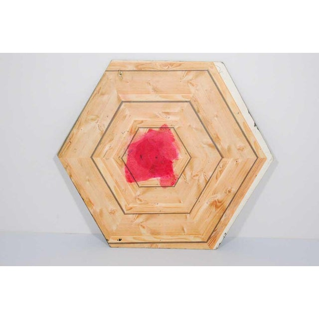 Antjuan Oden Hexagon Assemblage Painting - Image 2 of 5