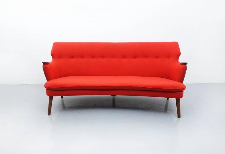 Danish Curved Back Sofa By Kurt Olsen For Slagelse Mobelvaerk   Image 7 Of  10