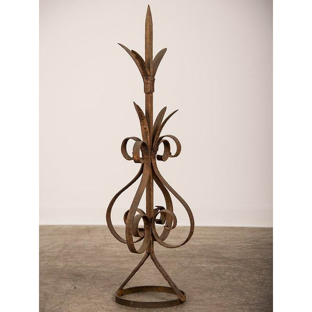 Antique Rustic French Hand-Forged Iron Finial, Normandy, circa 1880 - Image 2 of 6
