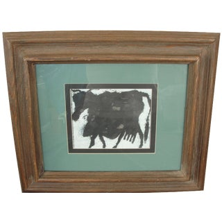 Vintage Abstract Alici DuBuffet Print of Cow