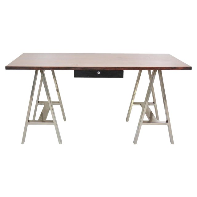 Image of Modern Design Sawhorse Leg Desk