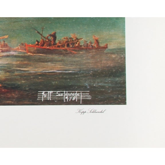 Kipp Soldwedel Lithograph - the Gaspee Incident - Image 2 of 2