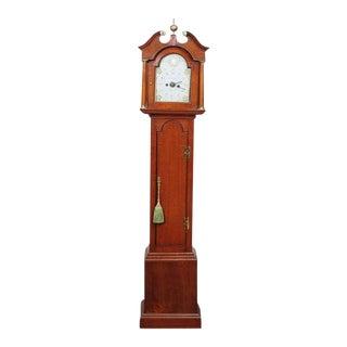 "Miniature Mahogany Long Case Clock marked ""Peatling"""