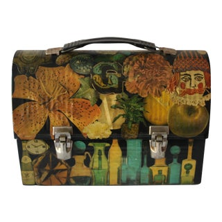 Vintage Decoupage Lunch Box