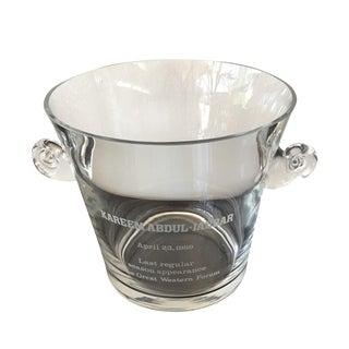 Tiffany 89' Kareem Abdul Jabbar Crystal Ice Bucket