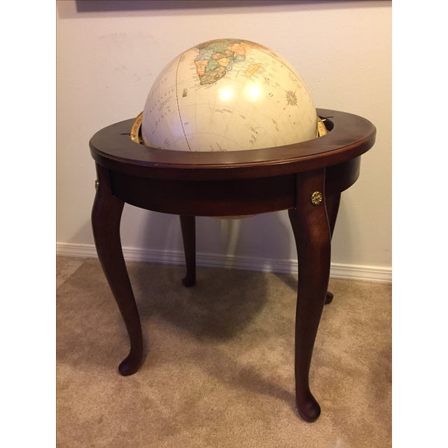 """George F. Cram Co. Floor Model Classic 16"""" World Globe with Wooden Stand - Image 2 of 5"""