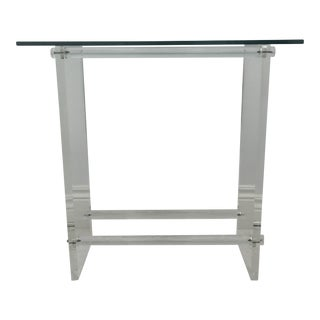 Glass & Lucite Console Table