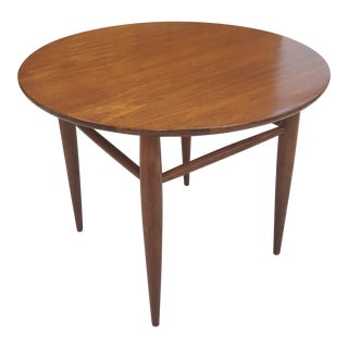 Mid-Century Round Mersman Walnut Side Table