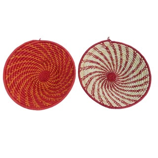 African Handwoven Burundi Baskets - A Pair