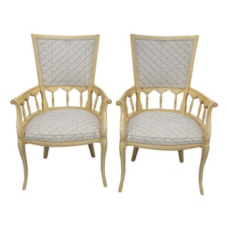 French Country Provincial Arm Chairs - a Pair