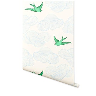 Hygge & West Daydream Wallpaper in Green - 1 Roll