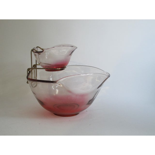 Cranberry Red Chip & Dip Bowl - Image 5 of 8