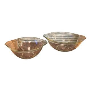Clear Pyrex Cinderella Mixing Bowls - a Pair
