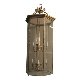 Modern Brass Foyer Lantern