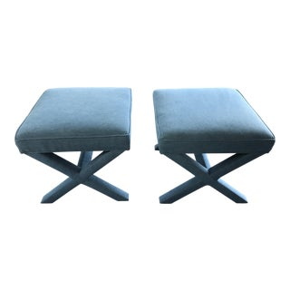 Serena and Lily Upholstered Parker Benches - a Pair