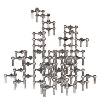 Fritz Nagel & Caesar Stoffi Modular Candlestick Sculpture - Set of 50