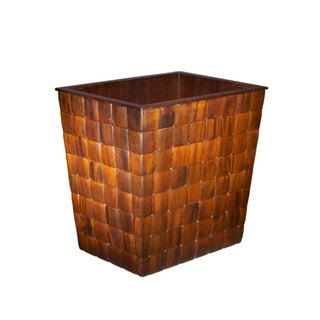 Selamat Designs Mahogany Barclay Wastebasket