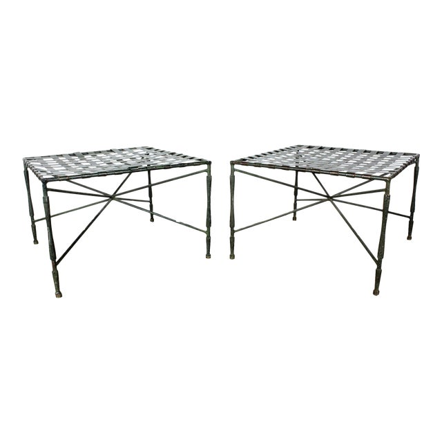 John Salterini Architectural Iron Benches - A Pair - Image 1 of 5