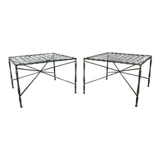 John Salterini Architectural Iron Benches - A Pair