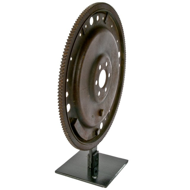 Rustic Flywheel on Display Stand - Image 2 of 3