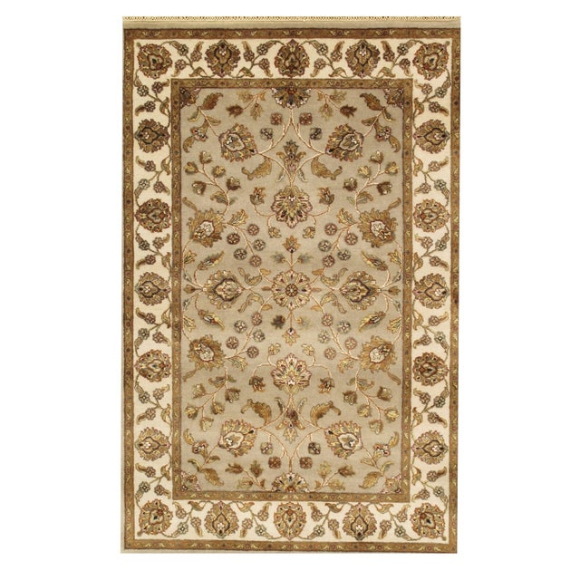 "Pasargad Agra Collection Rug - 4' X 6'2"" - Image 1 of 2"