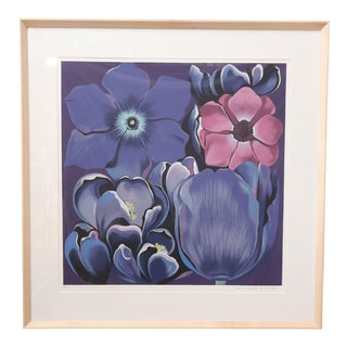 "Framed Signed and Numbered Serigraph ""Violet Monochrome"" by Lowell Nesbitt"