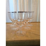 Image of Silver Banded Wine Glasses - Set of 6