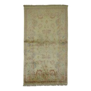 Angora Wool Oushak Rug, 3 x 4'11''