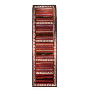 Early 20th Century Zarand Kilim Carpet - 3′10″ × 13′4″