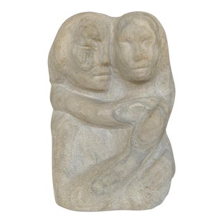 Mid-century Figurative Carved Limestone Sculpture by Florence Krieger 1919-2011