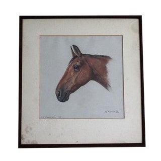 1958 Equestrian Race Horse Portrait Painting