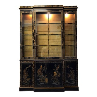 DREXEL HERITAGE Et Cetera Asian Chinoiserie Breakfront China Cabinet