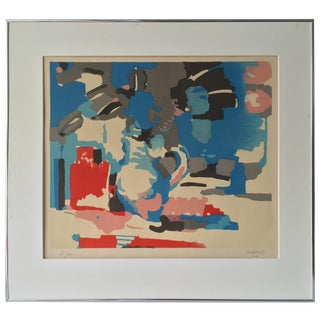Roland Bierge French 1970 Modernist Abstract Print