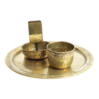 Hammered Brass Serveware - Set of 3