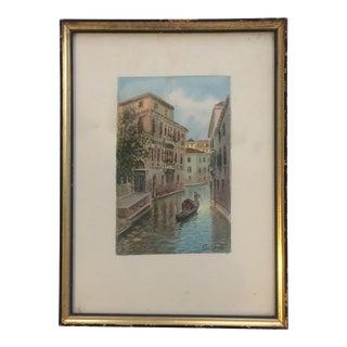 Alberto Trevisan Venice Watercolor Painting