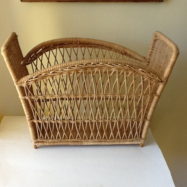 Natural Wicker File Basket - Image 2 of 8