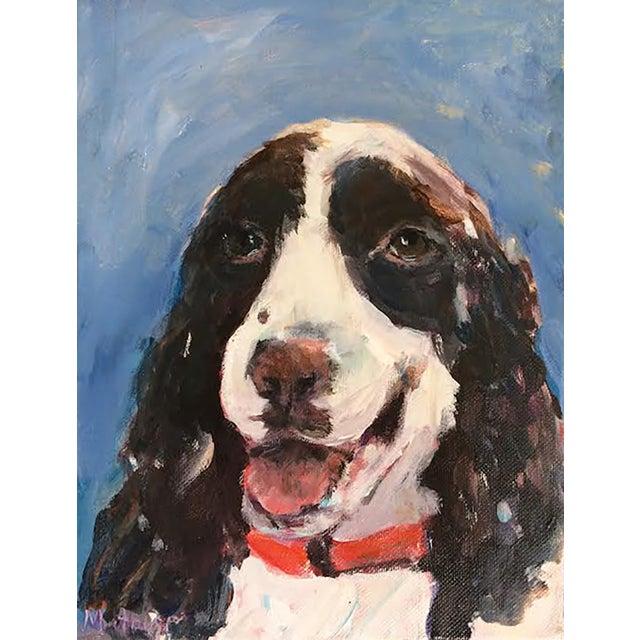 Mary Houston Painting - Happy Dog - Image 1 of 2