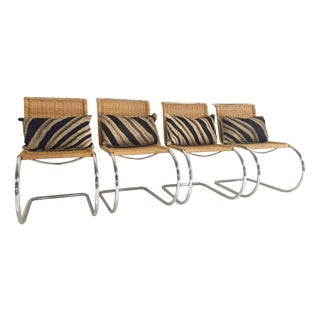 Mies Van Der Rohe Chairs & Pillows - Set of 4