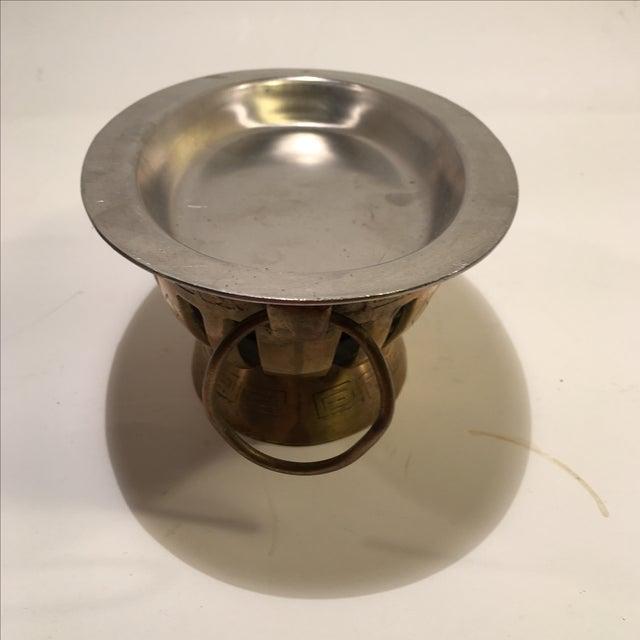 Image of Trader Vic's Tiki Brass & Stainless Chafing Dish