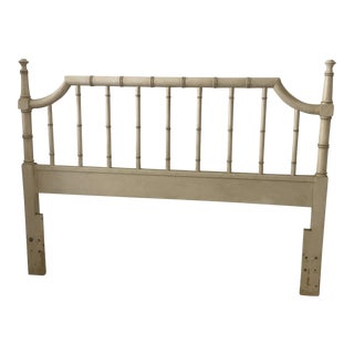 Hollywood Regency Faux Bamboo Queen Headboard