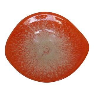 Orange Glass Console Bowl