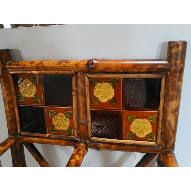 English Arts & Crafts Stick Stand with Tiles - Image 4 of 7