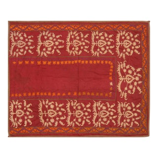 Uzbeki Suzani With Prayer Design Rug - 4'10″x6′