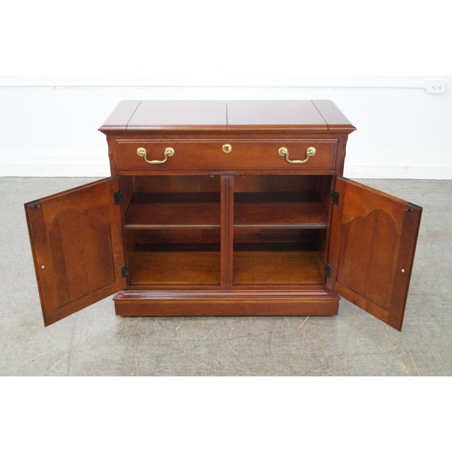 Pennsylvania House Solid Cherry Flip Top Server - Image 8 of 10