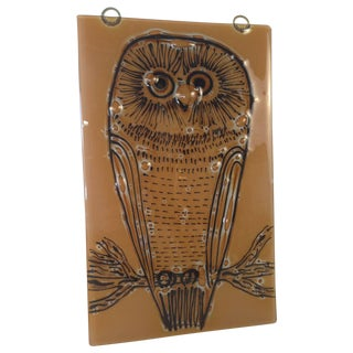 Vintage Higgins Owl Plaque