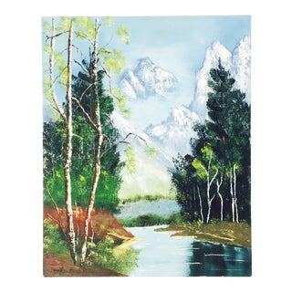 Vintage Forest Oil Painting